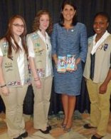 Gov with ESC Girl Scouts 2